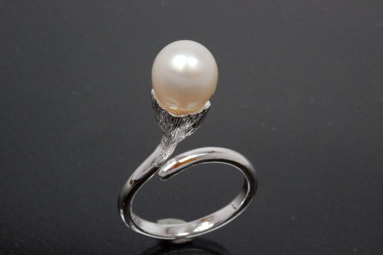 Ring, Pearldesign 925/- Silver with Freshwaterpearl (FWP)